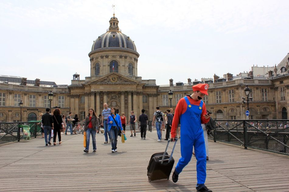 Adult Adults Only Architecture Arts Culture And Entertainment Built Structure City Day Full Length History Large Group Of People Mario Bros Men Outdoors Paris Paris Je T Aime Paris ❤ Paris, France  Parisweloveyou People Place Of Worship Sky Travel Destinations Mariobros