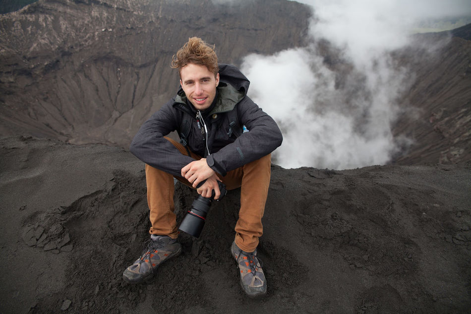 Beautiful stock photos of volcano, Camera, Casual Clothing, Caucasian Ethnicity, Day
