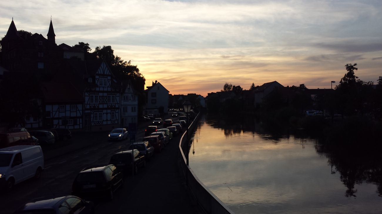 Beautiful sunset in Eschwege Eschwege Deutschland. Dein Tag Sunset The Purist (no Edit, No Filter)