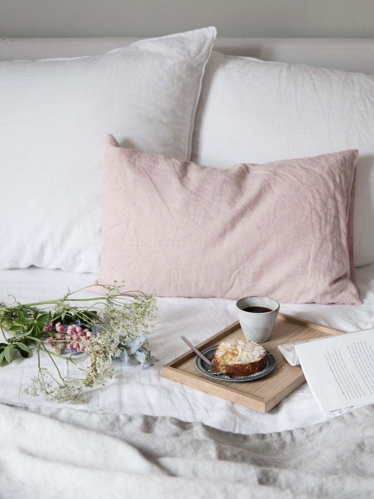 Breakfast Breakfast in Bed breakfast time slow life interior indoors Bed home interior bedroom Pillow no people Food and Drink coffee - drink coffee cup newspaper Domestic life linen visual feast Weekend TheWeekOnEyeEM Still Life Photography StillLifePhotography croissant day Breakfast Fresh on Market 2017