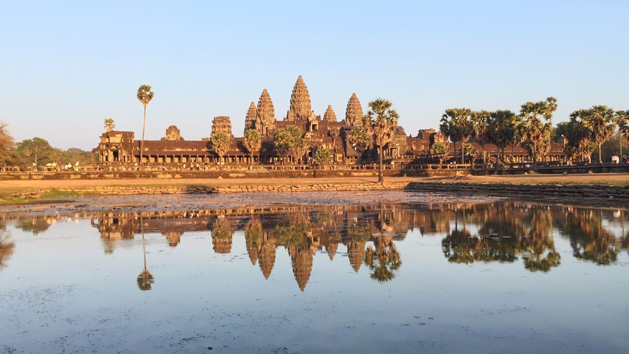 Angkor Wat is the largest temple in the Angkor complex. It used to be Hindu Capital in the Khmer Empire . Now it's transforming to a Buddhist Temple . Thebroadlife