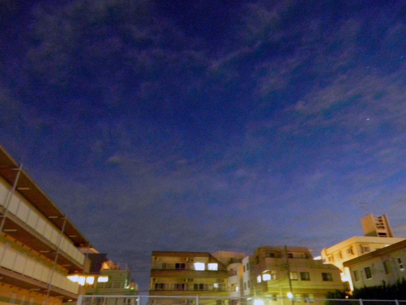 残光が 地平へ引かれて行く間際 空は藍へと染め上げられた NIKON S800c After Sunset