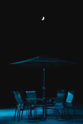 Night Chair Table No People Outdoors Travel Check This Out Streetphotography Photography Photo Street Photography Fujifilm Still Life Moon Darkness Place Sky Black Blue Light Shadow Been There. Blue Light Tbilisi Breathing Space
