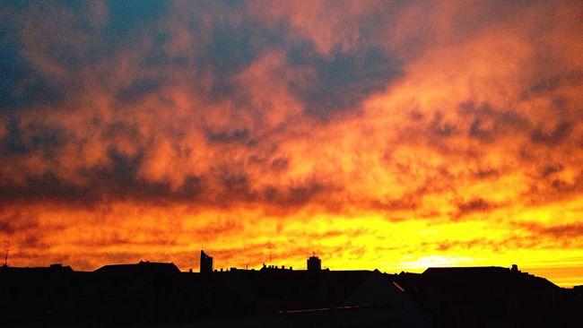 Burning Sky Leipzig Germany Colors Colorful Burning Sky