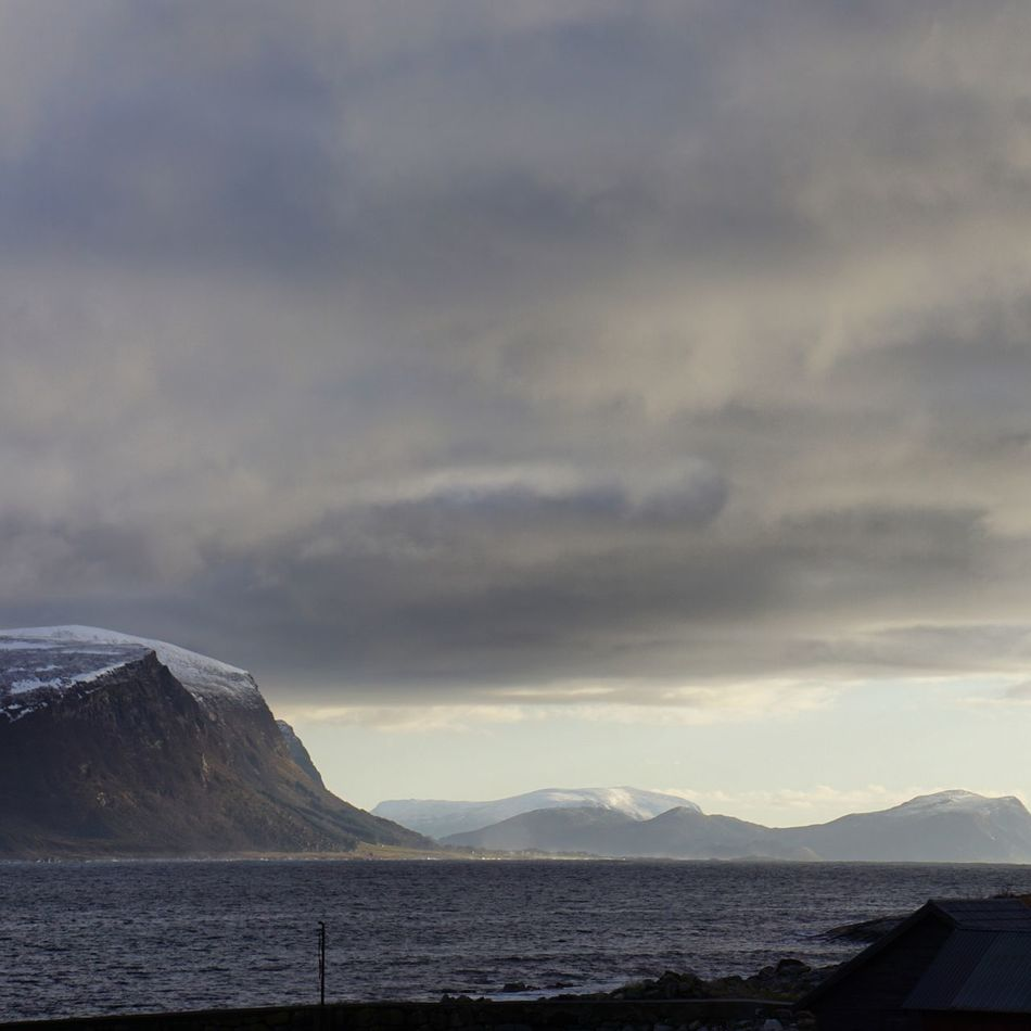 Hey spring, come back! Nature Landscape Clouds And Sky Sea And Sky Seaside Mountains Norway Eye4photography  EyeEm Best Shots Showcase April Enjoying Life Melancholic Landscapes Taking Photos Moody Sky