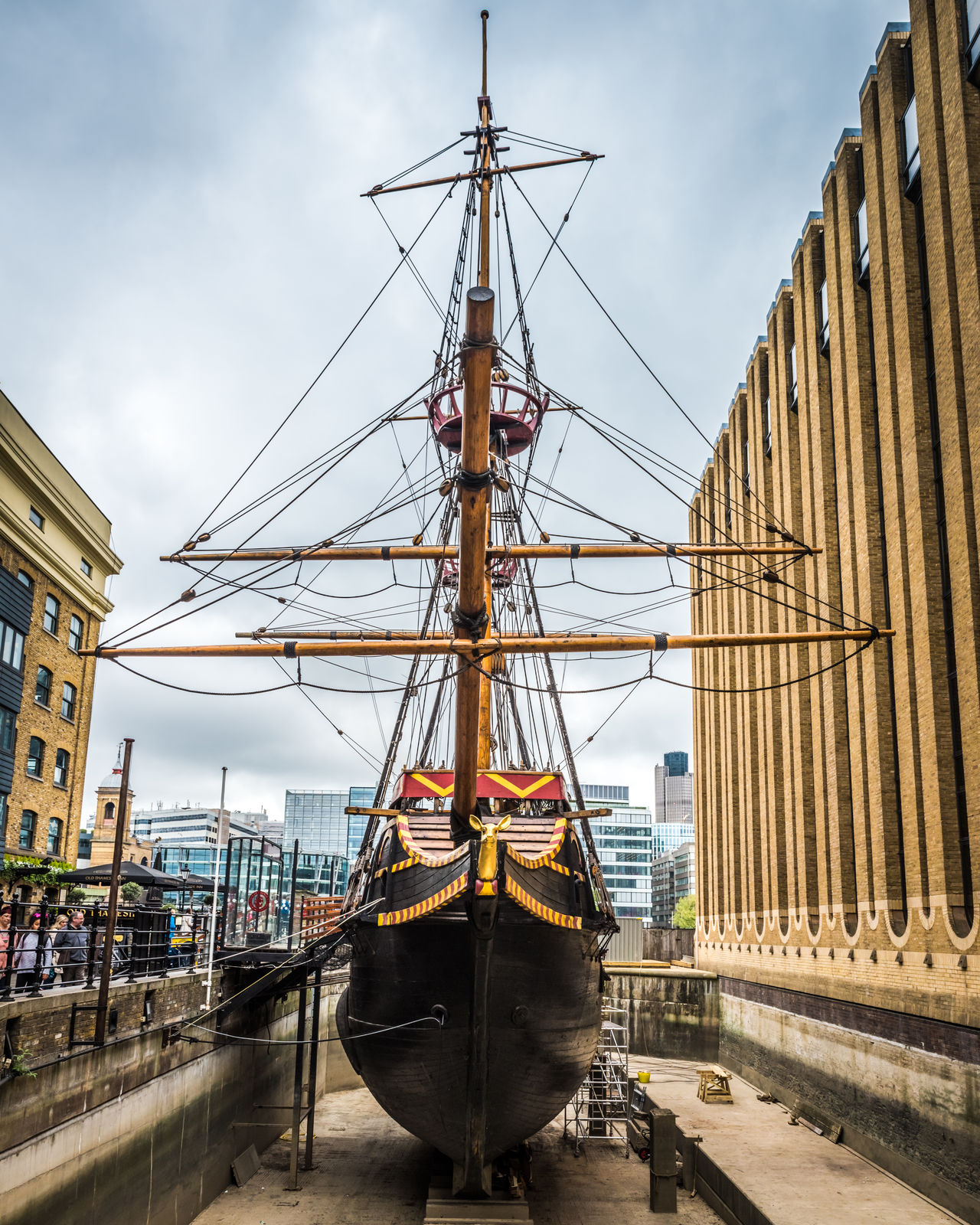 The Golden Hinde Architecture Buildings City Cloud - Sky Dry Dock Golden Hinde History Navy Old Perspective Rigging Sailing Ship Ship Tourism View