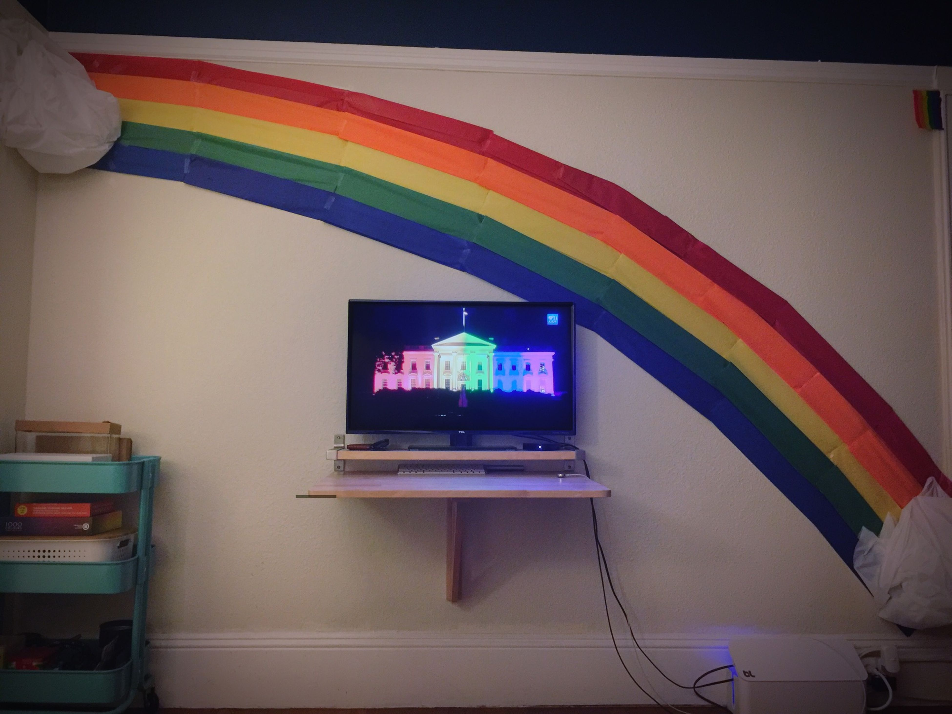 Sometimes, when Marriage Equality becomes the law of the land, you make a giant Rainbow in your apartment to celebrate! Happy Pride 2015 San Francisco