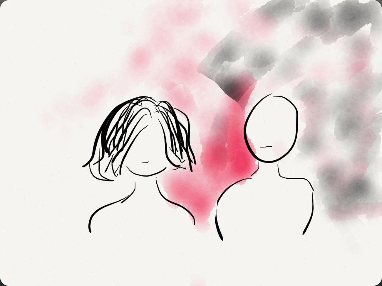 My first drawing.. Not good but I like it... ^______^ I Miss Him :(  Chunsumonpics Sad Mode Drawing
