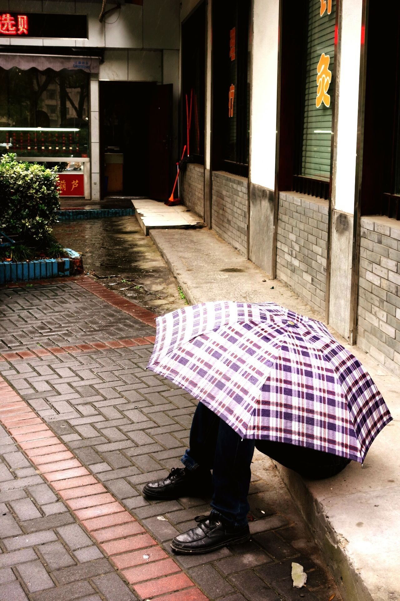 We will Melt away if there is more Rain . Hangzhou Funny Oddity Umbrella Street Photography China
