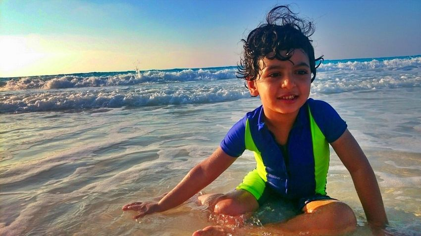 Colour Of Life Sea Beach Water Sunset Golden Hour Northcoast Child Waves Sun Nature People And Places Enjoy The New Normal My Year My View Finding New Frontiers The Portraitist - 2017 EyeEm Awards