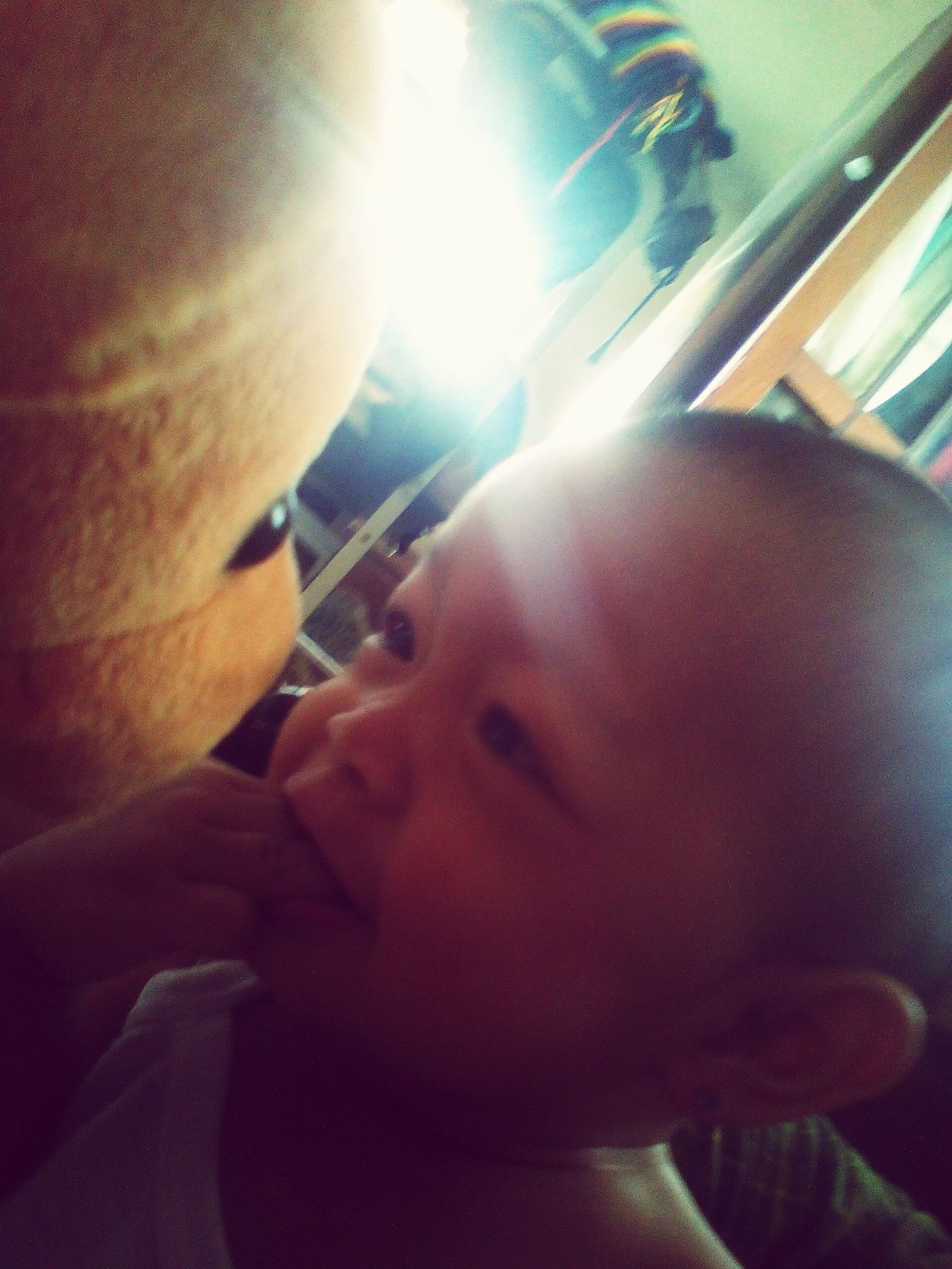 Playing with my bear