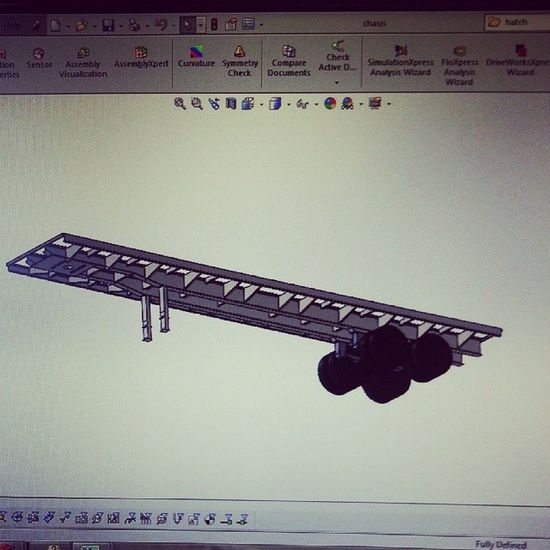 Still staring at my work. Happy with myself xD Work Flatbed Solidworks Happy Model Iloveit Wishiwashigh Hatersgonnahate LOL Acer Shittycomputer Random Its420somewhere