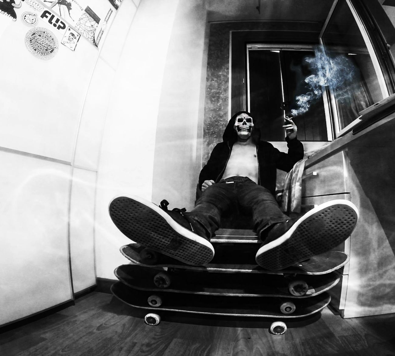 We all know it! But we do it anyway.. Skateboarding Smoking Deathart