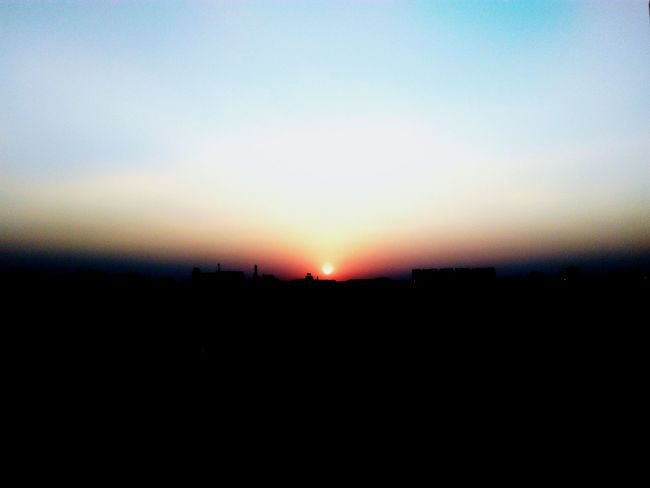 A sun to set Sunset Silhouette Sky Nature Scenics Beauty In Nature Clear Sky Outdoors No People Day Sunrise Nature