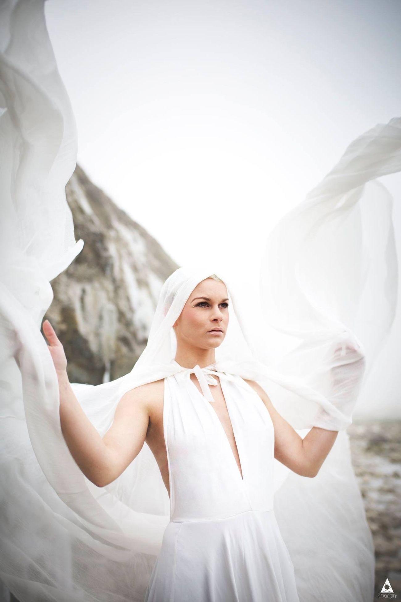Lady Cold ❄️ Women Ice Winter Wind Beach Sea Photography Model Lady