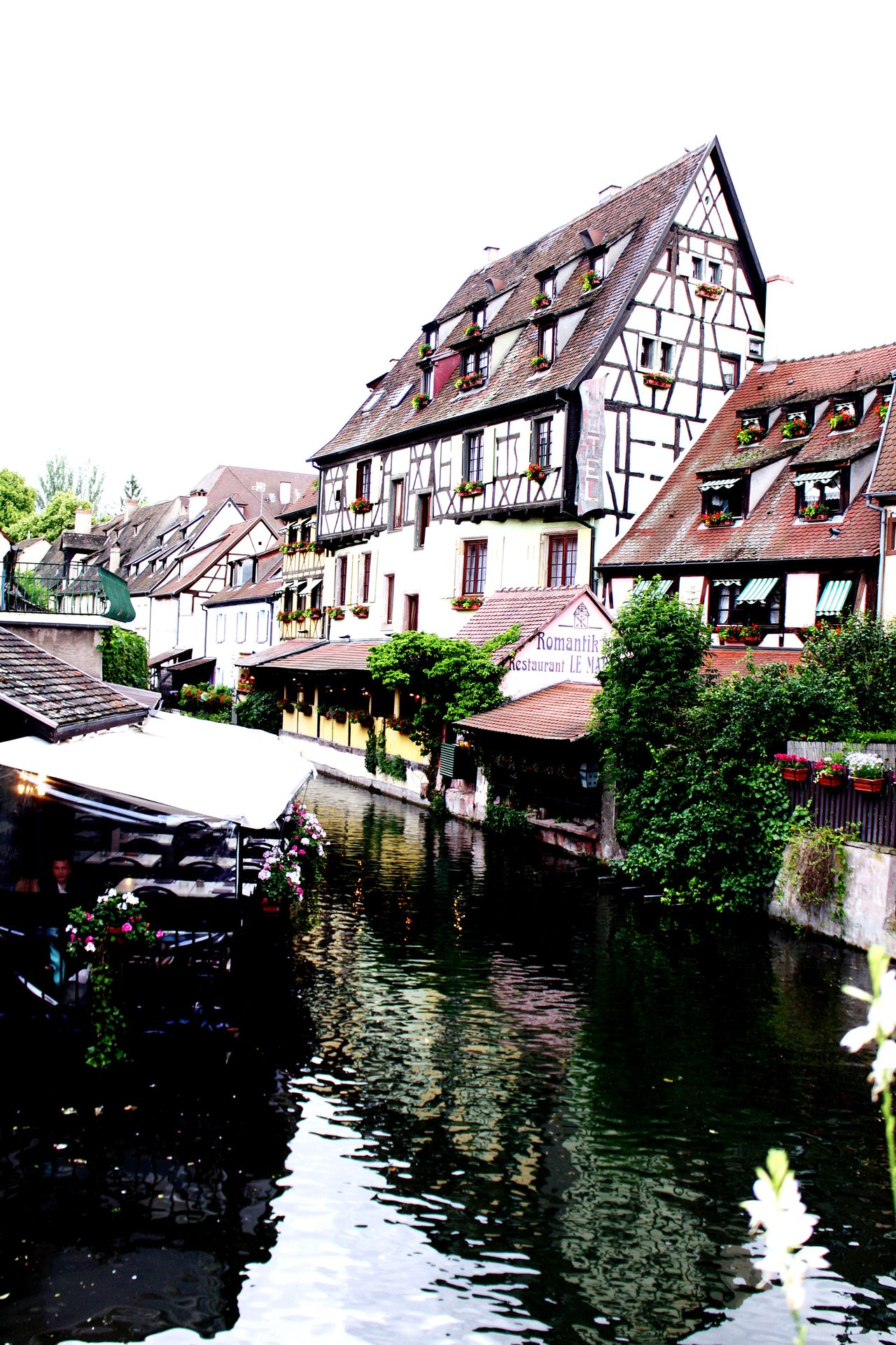 Water Reflection Canal Architecture Colmar, Alsace, France Outdoors