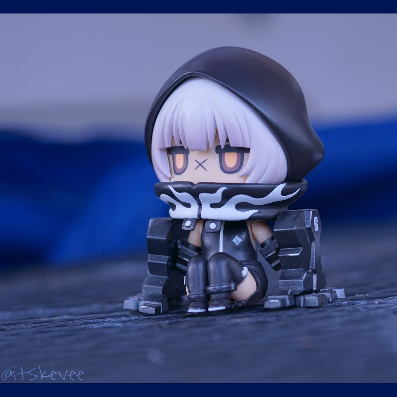 Strength Childhood Close-up Front View No People Headwear Indoors  Day Figurine  Smiling Macro Blue Nendoroid Black Rock Shooter Sony A6000 Sigma Gloomy Anime