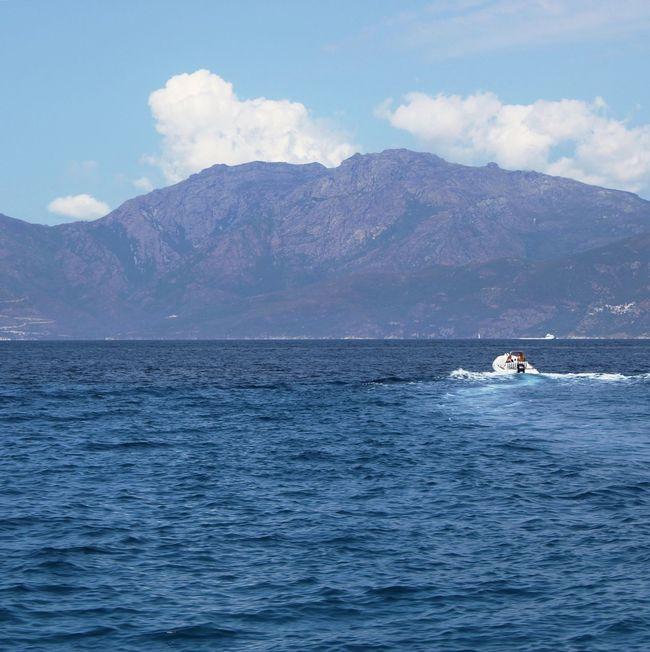 Boat heading to the Coast Corsica Mediterranean  Sea Mediterranean Sea Summer Sky
