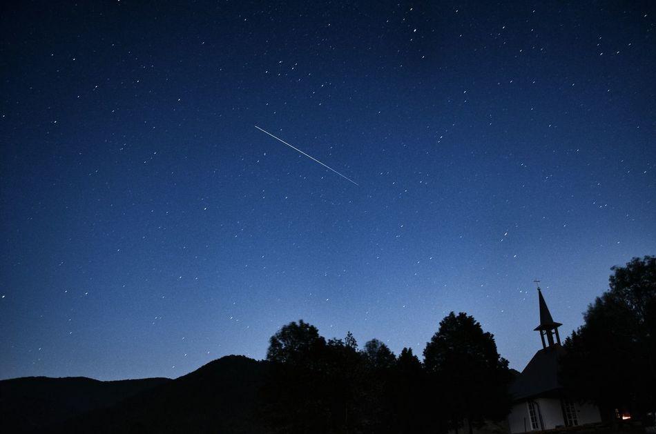 Nightphotography Night Nature Falling Stars