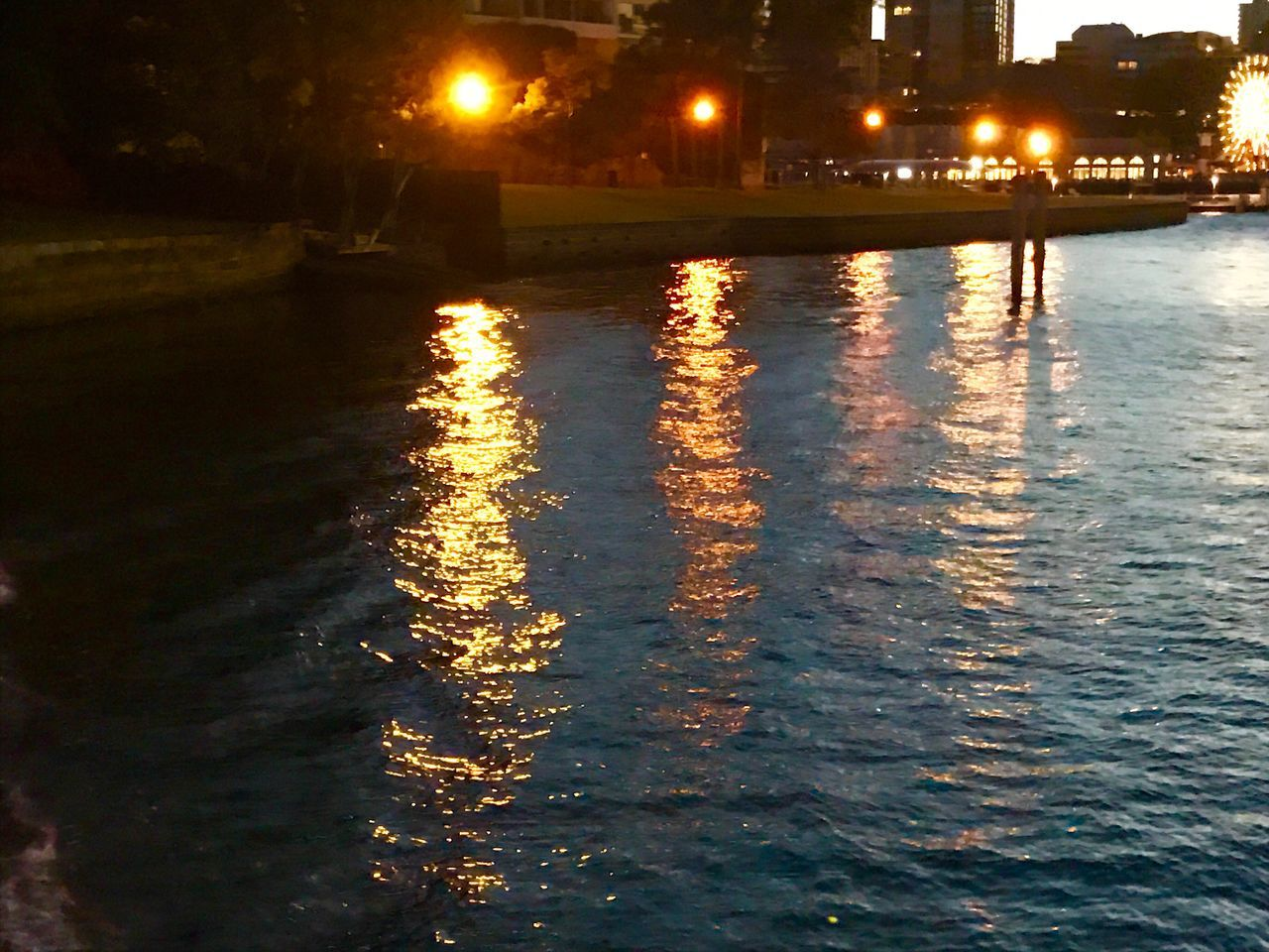 Water Illuminated Night Waterfront Outdoors Nature No People Harbourside City Lights And Shadows Morning Sky