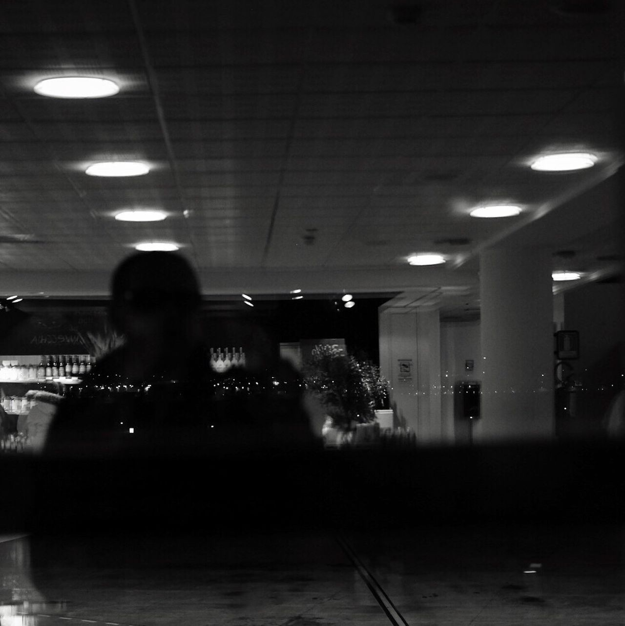 Self Portrait Indoors  One Man Only Taking Photos Shootermag Fine Art Photography TheMinimals (less Edit Juxt Photography) Walking Around Notes From Babylon Blackandwhite Photography Close-up Illuminated Lifestyles One Person Street Life Urban Exploration Airport