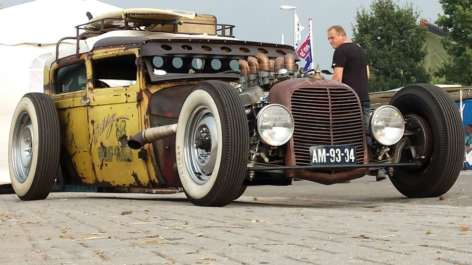 #CUSTOM CAR #HOTROD #OldButNewToEyeEm #rusty #VeryRare Outdoors Transportation
