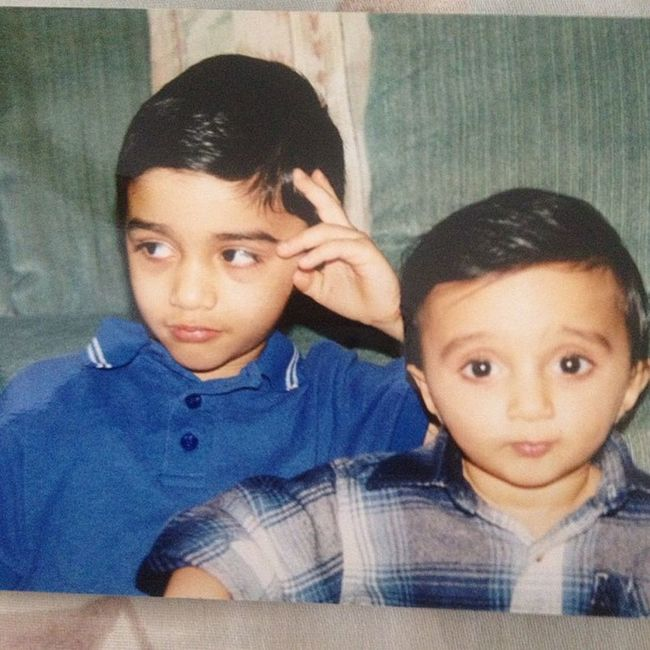 My brother and I back in the day. I'm probably watching tv TBT  Freshofftheboat Combover