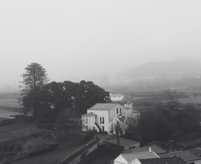 Eyem Misty day Taking Photos Peace And Quiet Misty Morning Blackandwhite Black & White Shootermag Bnw_society Houses And Windows AMPt_community Black And White