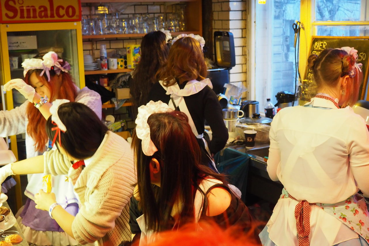 Berlin Business Casual Clothing Cosplay Disguise Friendship Fun Happiness Head And Shoulders Japanese  Japanese Culture Japanese Style Lifestyles Long Hair Maids Maids Cafe Occupation Real People Women Young Adult Young Women