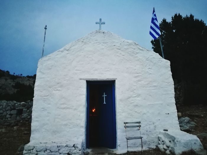Religion Architecture No People Built Structure Spirituality Cross Travel Destinations Building Exterior Day Outdoors Sky GREECE ♥♥ Beauty In Nature Greece Island Sea Greece Islands Vacation Time Dokos