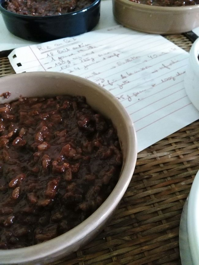 Riz au lait chocolaté Rizaulait Dessert Recette Recipe Close-up Chocolate Chocolat Riz Ricepudding