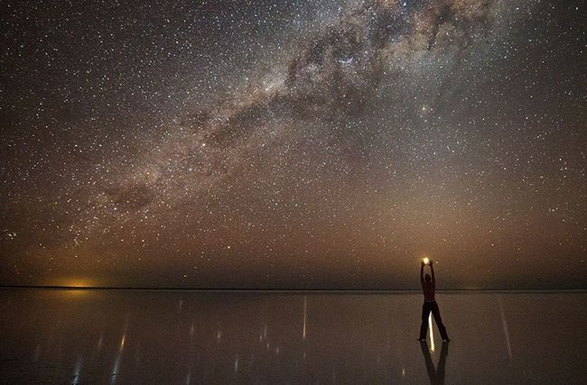 Stars WOW Wow!! Mirror Effect Person Night Colors Sternenhimmel Spiegelt Beautiful