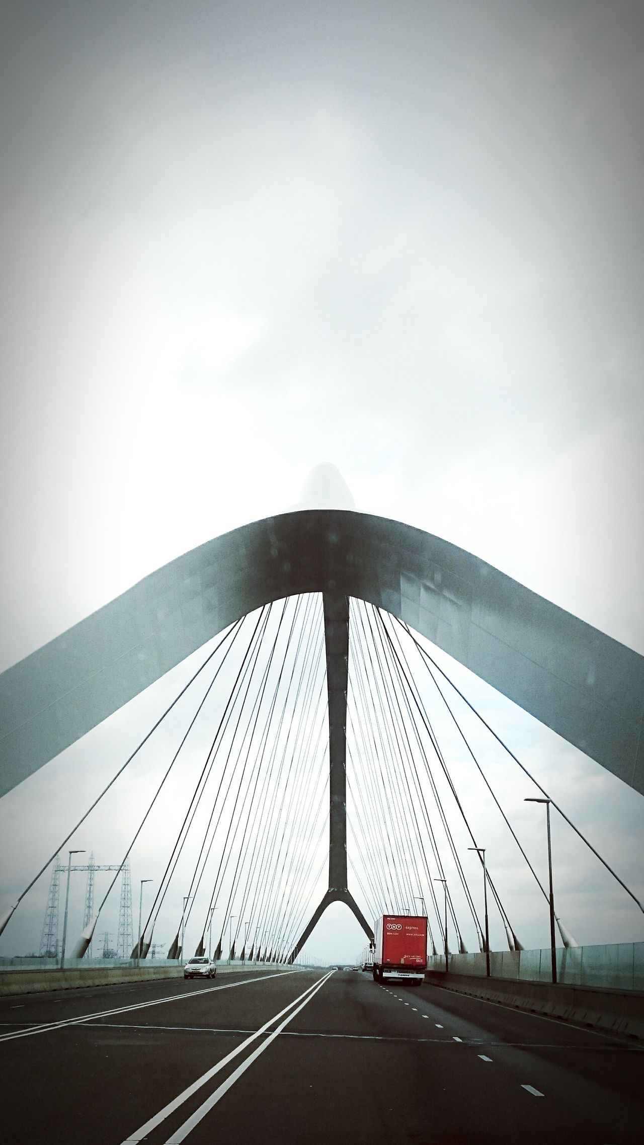 Bridge - Man Made Structure Connection Diminishing Perspective Dutch Architecture Dutch Bridge Low Contrast Road Sky The Way Forward Vanishing Point
