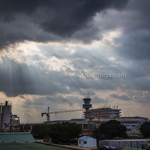 Sunset yesterday over M.M.I. Airport Lagos Nigeria InstaLagos Lookslikelagos snapitoga Africa urban cityscape