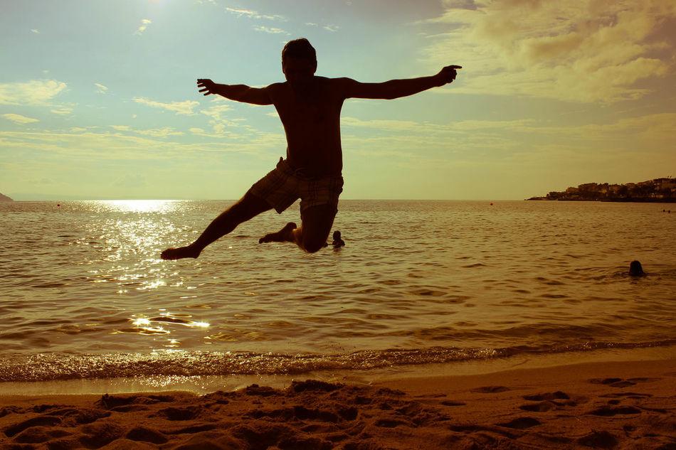 Beautiful stock photos of jump, Beach, Beauty In Nature, Cloud, Coast