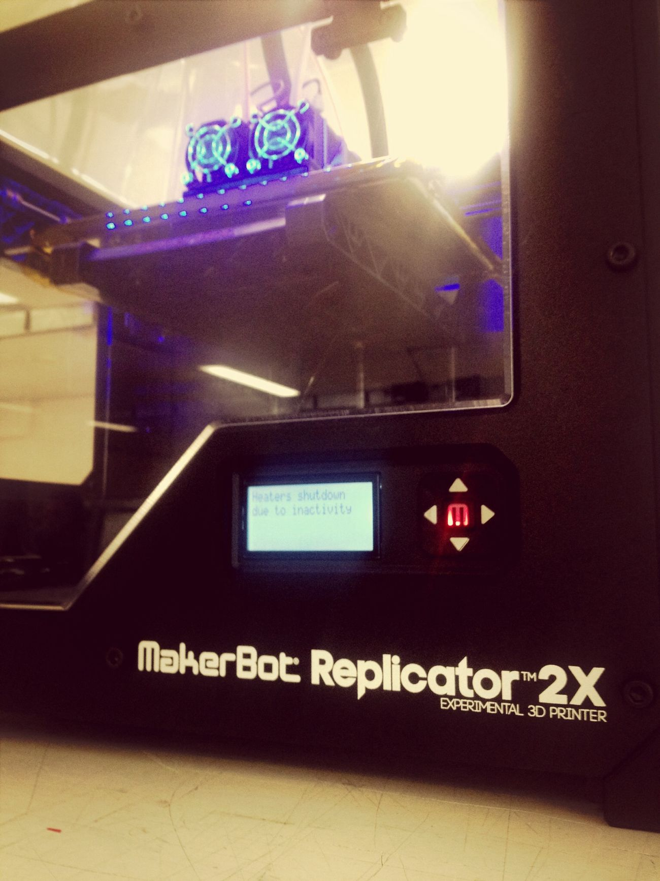 Boys And There Toys getting started with the Makerbot 2X Working i can't wait 2 play around with it @makerbot