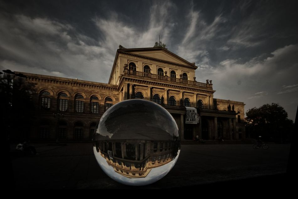Hannover'Opera with glas ball, Architecture City, Color Culture Glasball Hannover Hannover, Historic Opera House