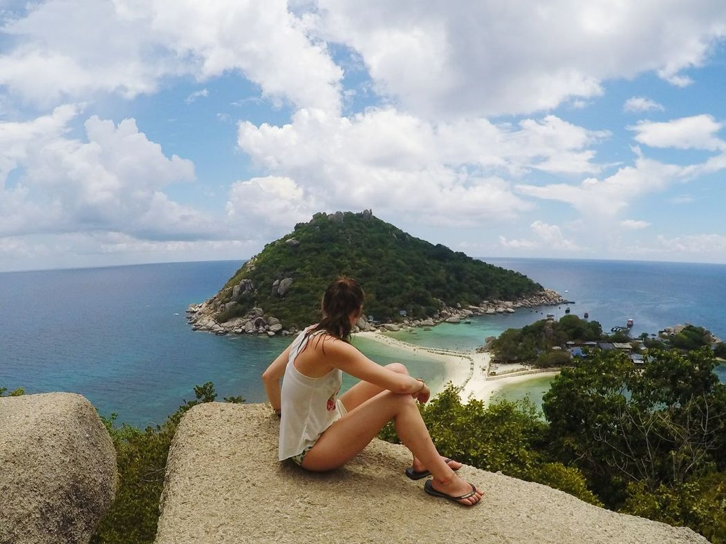 Viewpoint Beauty In Nature Sea Travel Destinations Wilderness Area EyeEmNewHere EyeEm Diversity Outdoors Love Fun Young Women Cloud - Sky Sky People Real People Lovelovelove Women Happyday Thailand Trip Thailand Nangyuan Long Goodbye Sommergefühle
