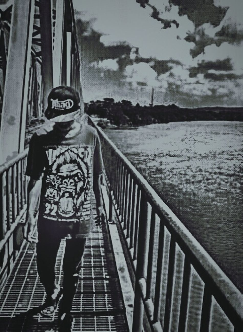 B&W Trainbridge Indonesian Train Mobilephotography FirstMoment Forfun Sun ☀ Beginnerphotographer
