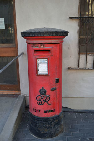 Architecture British Postbox Building Exterior Built Structure Close-up Communication Correspondence Day Mail Mailbox No People Outdoors Pay Phone Post Box  Public Mailbox Red Red Post Box Royal Mail Telephone Booth Text Western Script