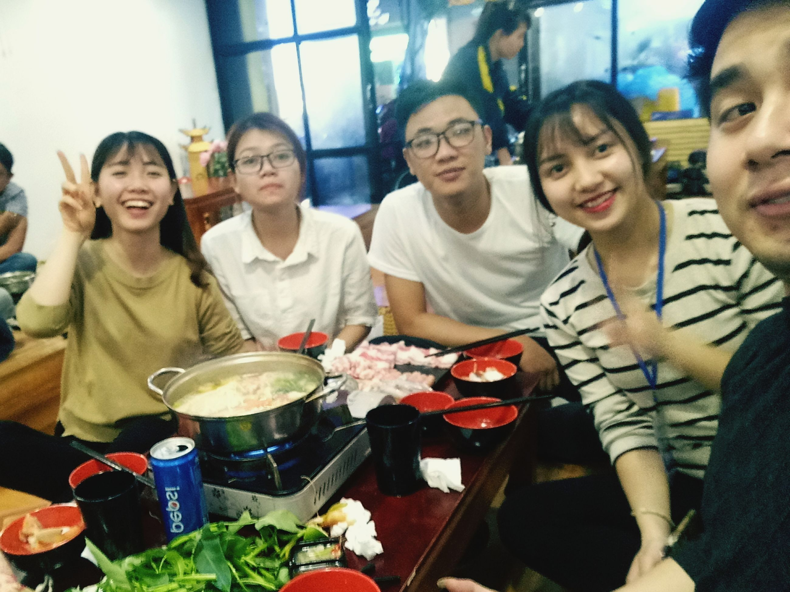 portrait, indoors, looking at camera, eyeglasses, smiling, happiness, lifestyles, real people, group of people, togetherness, day, people