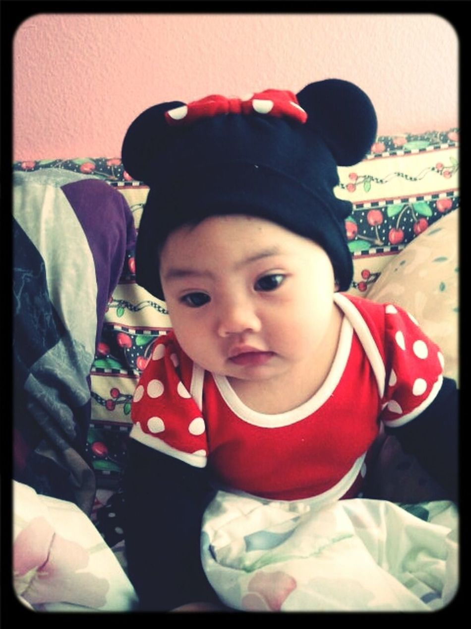 My Baby <3 My Princess My Daughter Disney Baby 5months  Minnie Mouse