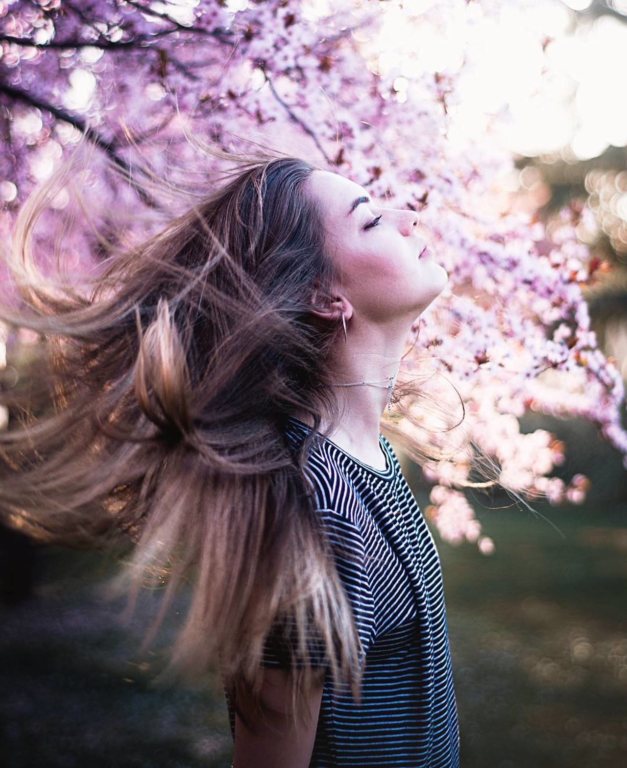 Breathing spring vibes One Woman Only Beautiful People Only Women Beautiful Woman Adults Only Adult Beauty Fashion One Person Young Adult One Young Woman Only People Beauty In Nature Outdoors Nature Human Body Part Women Flower Close-up Day