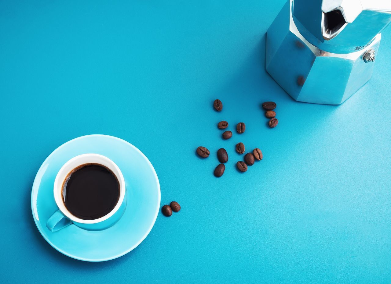 Coffee Blue Coffee Break Coffee Cup Drink Food And Drink Cup Coffee - Drink Refreshment Still Life Saucer Table Freshness Studio Shot Healthy Eating Indoors  Food Close-up Day