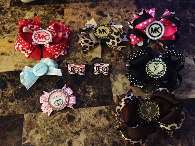My dogs bows Chihuahua Hair Bows Spoiled Dog
