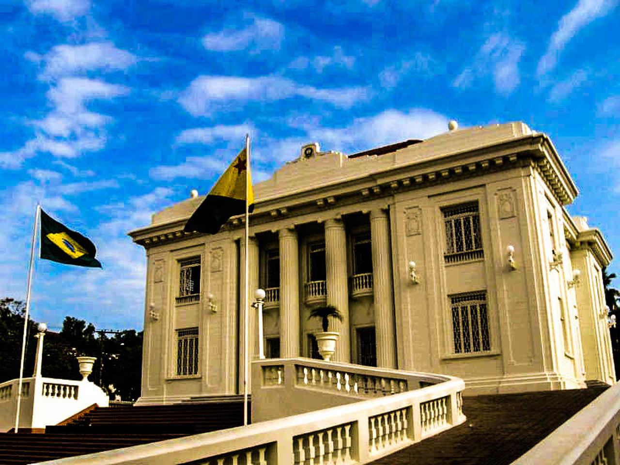 Palácio Rio Branco Acre Amazonia Bandeiras Brasil Escadas Governo Palacio Rio Branco