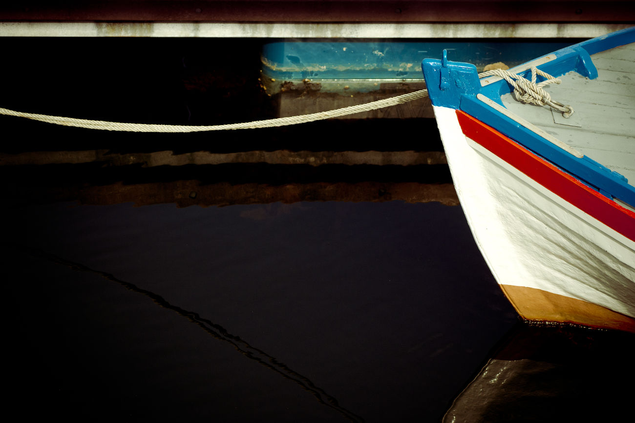 Close-up Day Harbour Life Moored Nautical Vessel No People Outdoors Reflection Rope Water