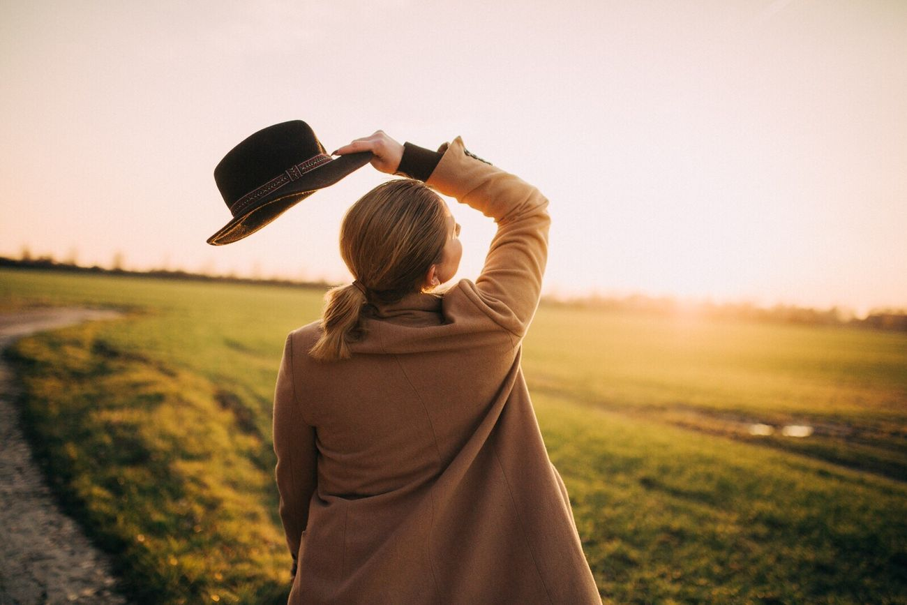 Beautiful stock photos of fashion, Arms Raised, Brightly Lit, Dawn, Field