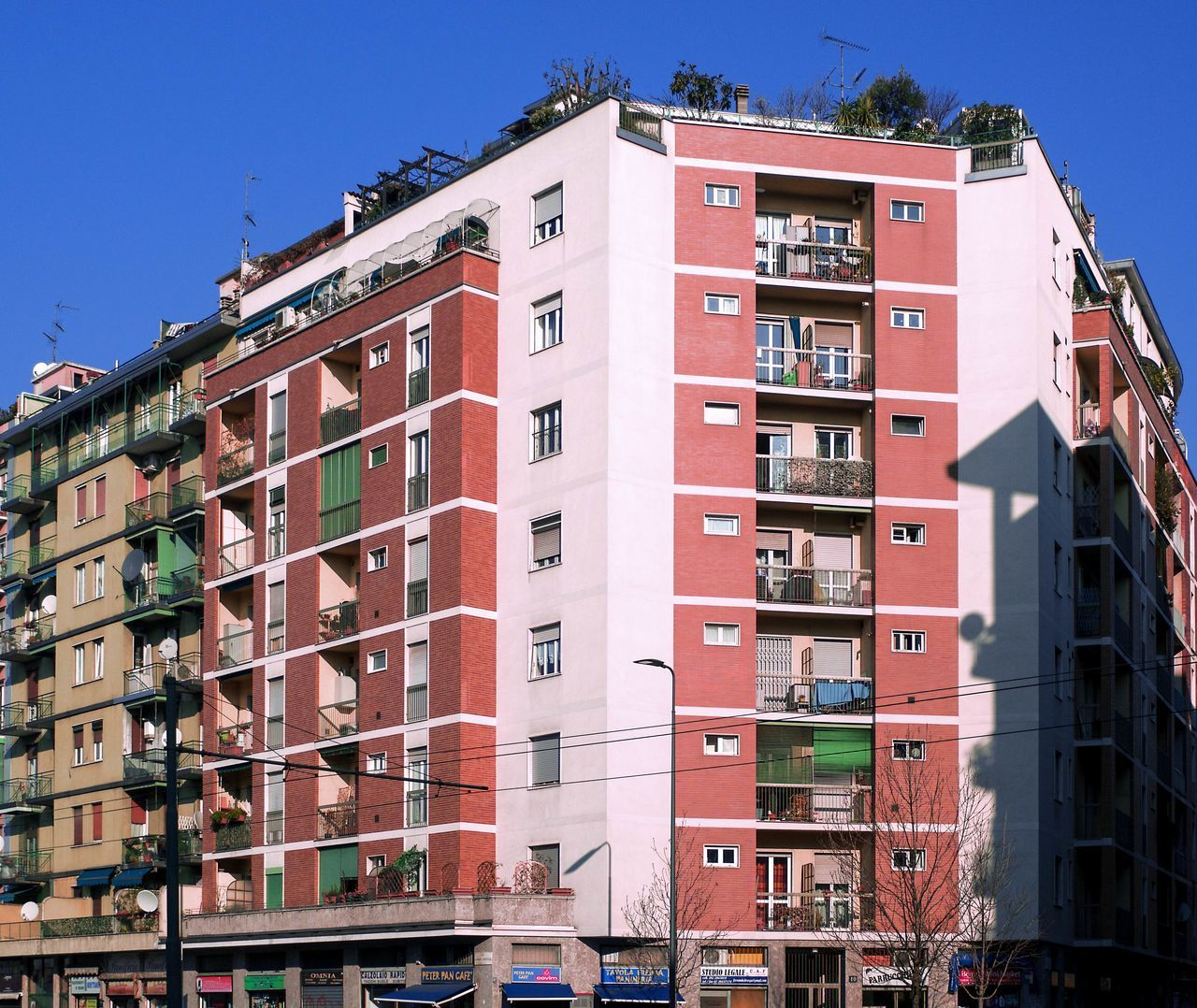 Apartments Architecture Balconies Blinds Brick Building Building Building And Sky Building Exterior Building Structures Built Structure City Clear Sky Condominium Day Facade Building Multicolor No People Outdoors Palace Residential Building Street Sunlight Windows