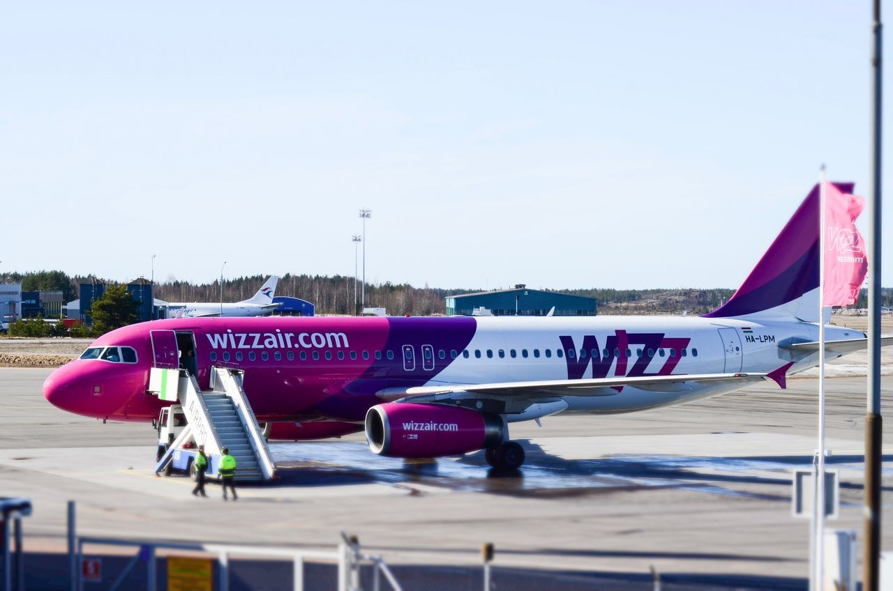 WIZZAIR A320 preparing to the next flight Airplane Mode Of Transport Text Wizzair Air Vehicle Transportation Wizz Turku Airport Runway Airbus Airbus A320 Spottaaja Spotter Planespotting Artsy Colors Colorful Daily Nikonphotography Nikon